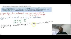 simultaneous equations word problems
