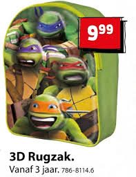 ninja turtles kinderrugtas folder aanbieding bij top1toys family details