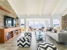 vaulted ceiling chevron