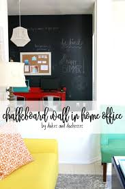 E Chalkboard Wall In Home Office