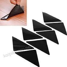 honghong 4 pairs rug carpet mat grippers non slip anti skid reusable washable silicone grip sticker