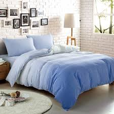 light blue and sky blue ombre colored fashion unique abstract 100 cotton full queen size bedding sets