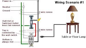 wiring diagrams for different outlets the wiring diagram different ways to wire a outlet controlled by switch electrical wiring diagram