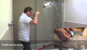 doors dreamline sweep tub wonderful seal shower basco custom corner single frameless glass door sterling
