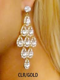 ornamented tiered chandelier pageant earrings 2531 by e fay