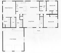 3 bedroom open floor house plans. Brilliant House Open Floor Plan With The Privacy Of A Master Bedroom On One Side And 2  Bedrooms Throughout 3 Bedroom Floor House Plans G