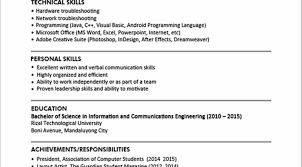 Resume Builder Pdf Resume Objective For It Jobs