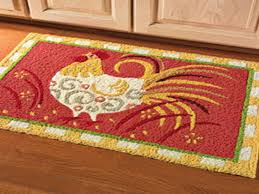 washable kitchen floor mats. Washable Rooster Rugs Round Kitchen In Red Cement Home Decor Ideas Floor Mats