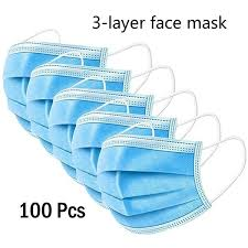 <b>100PCS Mask Disposable Mask Non-woven</b> Filter Protective <b>Mask</b> ...