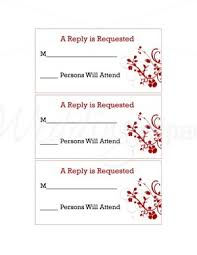 rsvp card template printable red floral rsvp cards new life stationery template template