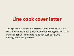 Gallery Of Line Cook Cover Letter Sample Cover Letter For Cook