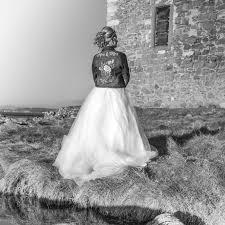 personalised brides denim jacket