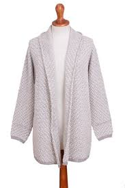 Off White And Grey Alpaca Blend Relaxed Fit Cardigan Sweater Dove Down