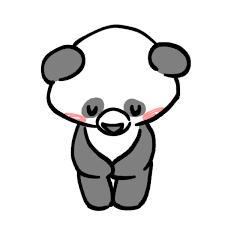 お辞儀をするパンダのイラスト かわいいフリー素材が無料のイラストレイン