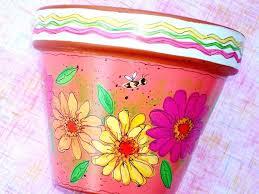 painted plant pots paint terracotta