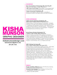 Gallery Of Sample Resume Graphic Designer Free Excel Templates