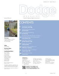 Dodge Magazine Summer 2016 by Barbara Payne - issuu