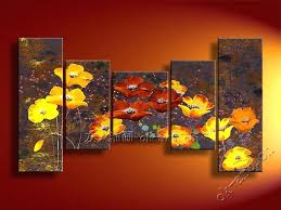 canvas paintings for sale. Abstract Oil Painting Hand Painted Art Sale Butterfly Flower Decoration 5 Panel Canvas Set For Melbourne . Print Inspirational Discount Paintings R