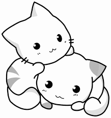 The dog has a bone in his teeth. Cute Kittens Coloring Pages Coloring Home