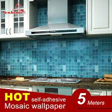5meter pvc wall sticker bathroom waterproof self adhesive wallpaper kitchen mosaic tile stickers for walls decal home decoration l off wall decals l
