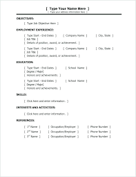 Format For Simple Resume Simple Easy Resumes Simple Resume Format