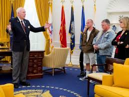 nixon office. Bob Lyons, Left, A Docent At The Richard Nixon Presidential Library \u0026 Museum, Office