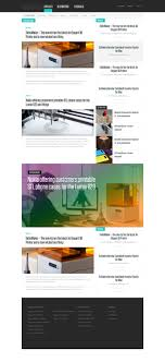 Newspaper Website Template Free Download Free News Or Blog Psd Website