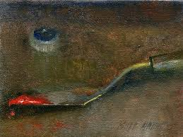 hall groat ii palette knife with oil paint top