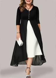 Modlily Size Chart Plus Size Chiffon Panel V Neck Maxi Dress Modlily Com Usd 33 83