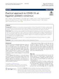 PDF) Practical approach to COVID-19: an Egyptian pediatric consensus