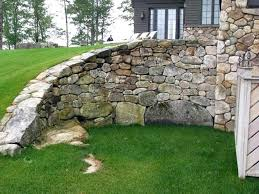 large curved retaining wall fieldstone pictures gallery