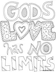 Small Picture Coloring Page Gods love has no limits Coloring Book