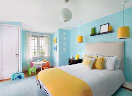 ... Elegant use of yellow and blue in the kids' bedroom [From: Clean Design