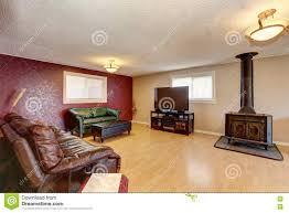 Elegant Rote Wand Wohnzimmer Haupttapete