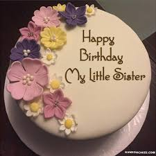 happy birthday my little sister cake images