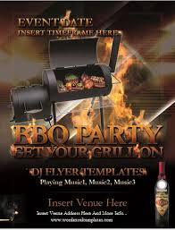 Backyard Barbecue Bbq Party Flyer Template Word Excel