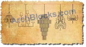 chandeliers symbols cad