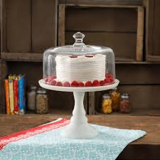 the pioneer woman timeless beauty 10 white glass cake stand com