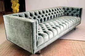 image of blue velvet tufted sofa velvet tufted sofa g96