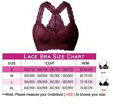 Yianna Women Floral Lace Bra Top Bralette Plus Size Sweat