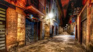 Wallpaper Barcelona, Spain, alley ...
