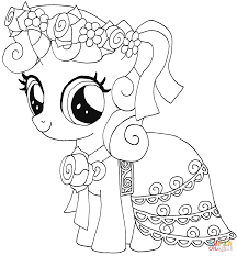 Small Picture My Little Pony Color Page Free Printable My Little Pony Coloring