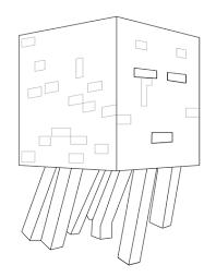 Minecraft Ghast Kleurplaat Gratis Kleurplaten Printen