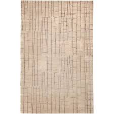 shibui tan and cocoa rectangular 5 ft by 8 ft rug