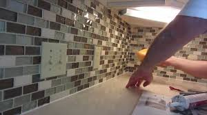Diy Tile Backsplash Kitchen How To Install Glass Mosaic Tile Backsplash Part 3 Grouting The