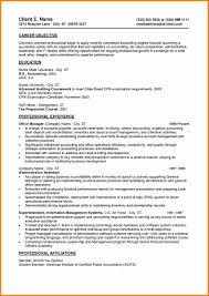 6 Cpa Resume Sample Entry Level Grittrader
