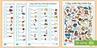 To start practicing, just click on any link. I Spy With My Little Eye Educational Game Worksheet