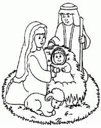 Small Picture Merry Christmas Nativity Coloring Page Getcoloringpages Com