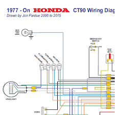 honda ct90 wiring diagram 1977 on all systems home of the pardue ct90 wiring diagram 77 on