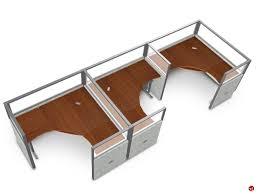 office desk cubicles. 3 Person L Shape Office Desk Cubicle Cluster Workstation Cubicles
